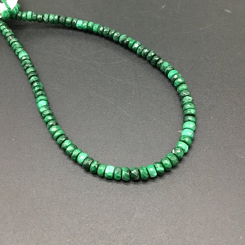 Malachite Faceted Beads Natural Gemstone Necklace Beads 8'' Gemstone necklace