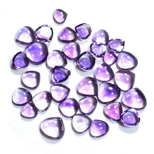 Amethyst Smooth Heart 20 PCS. Lot . Loose Gemstone Handmade Natural96