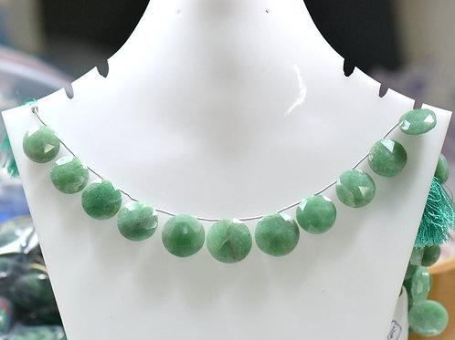 Green Quartz - 8'' Africa Faceted Round 1 Strand Gemstone Jewelry Beads Handmade