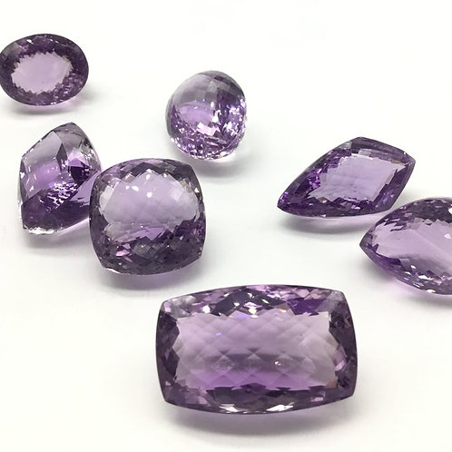 Pink amethyst faceted top quality mix shape Gemstone natural gems jewellery