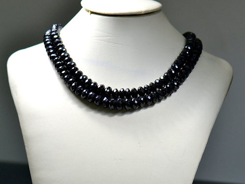Black Spinal - 16'' Africa Faceted Beads 1 Strand Gemstone Jewelry Beads
