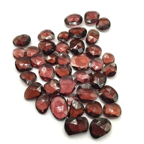 Garnet Rosecut Faceted Mix Shape Lot Top Quality Natural for Jewellery necklace