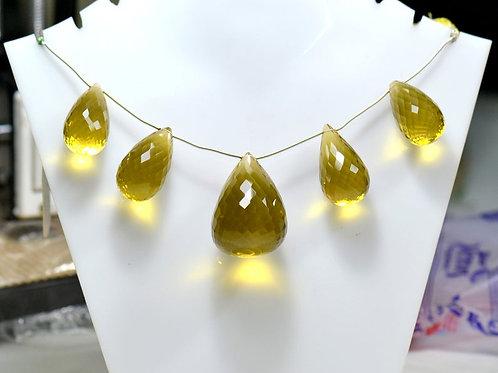 Honey quartz 8'' BIG SIZE! Brazil Faceted Drop 1 Strand Gemstone  Jewelry Beads