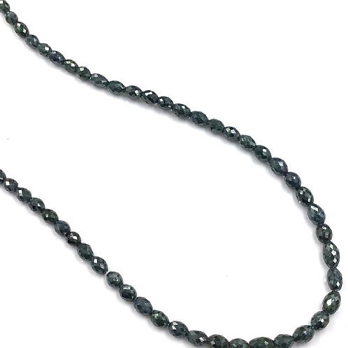 Blue Diamond Long Drilled Beads 16 Inches 3.5x2.5 To 5x4mm Approx 35.10Carats
