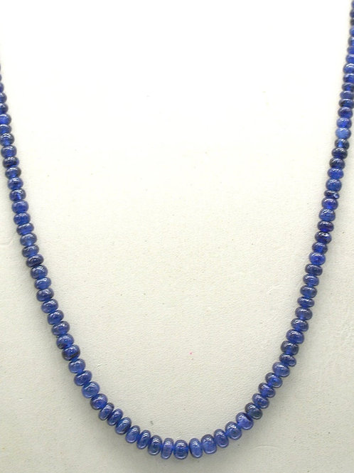 Blue Sapphire 16 '' Treated Smooth Beads 1 Strand Gemstone 92.45 ct