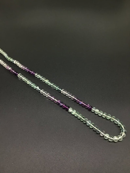 Fluorite Shaded 16 '' Faceted Beads 1 Strand Natural Gemstone Necklace Beads