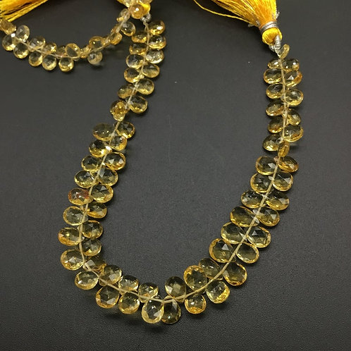 Citrine Pear Faceted Top Quality Natural Gemstone necklace 8 '' Citrine Necklace