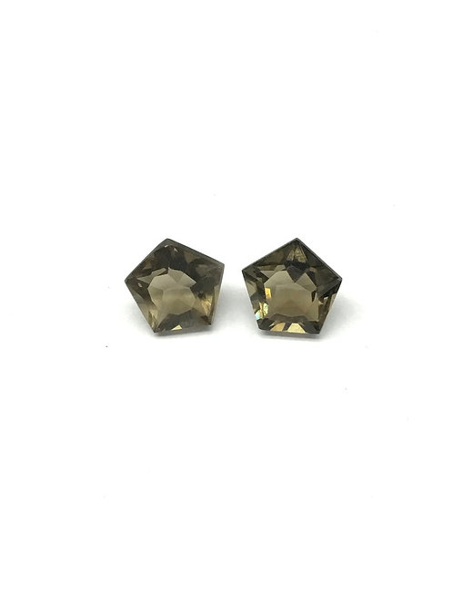 Smoky Quartz Star Fancy Pair Shape Faceted natural gemstone jewellery Making