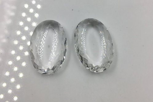 White Crystal Fancy Cut Stone Pair Crystal Gemstone Pair Natural Gems