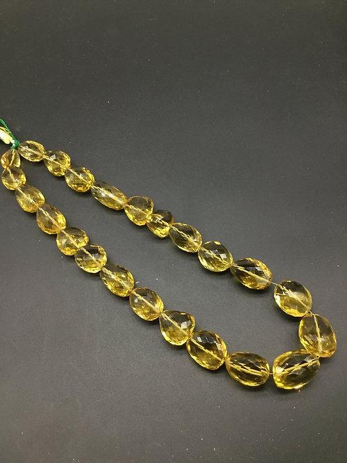 Beer / Honey quartz 8 '' Faceted Tumble Top quality Shape 558.55 Ct Natural gems