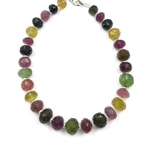 Multi Tourmaline Faceted Beads Size 8 To 10 mm , 116.55 cts 28 Pieces Natural