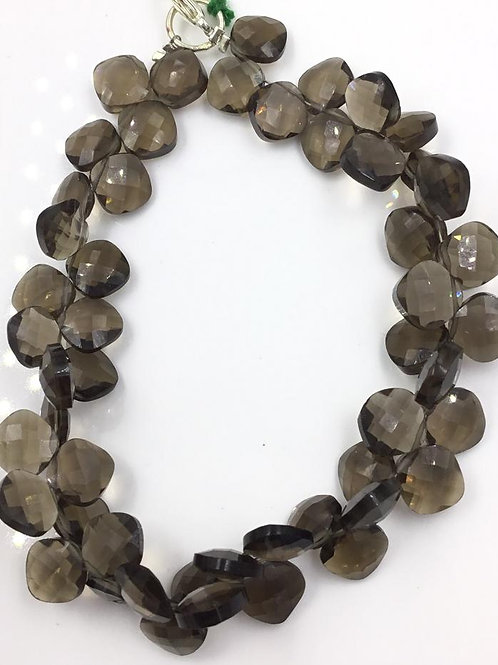 Smoky Quartz Faceted Fancy Cushion Size 8 mm, 98 cts Approx Beads Gemstone
