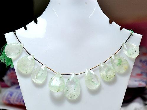 Phantom Quartz - 8'' Africa Faceted Almond 1 Strand Gemstone  Jewelry Beads