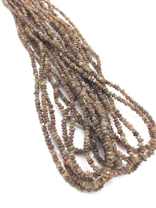 Red / brown Diamond uncut beads 1strand