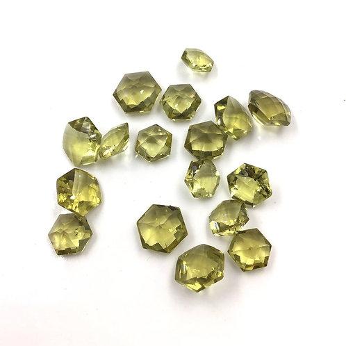 Natural Honey Quartz Faceted Fancy Hexagon Loose Gemstone
