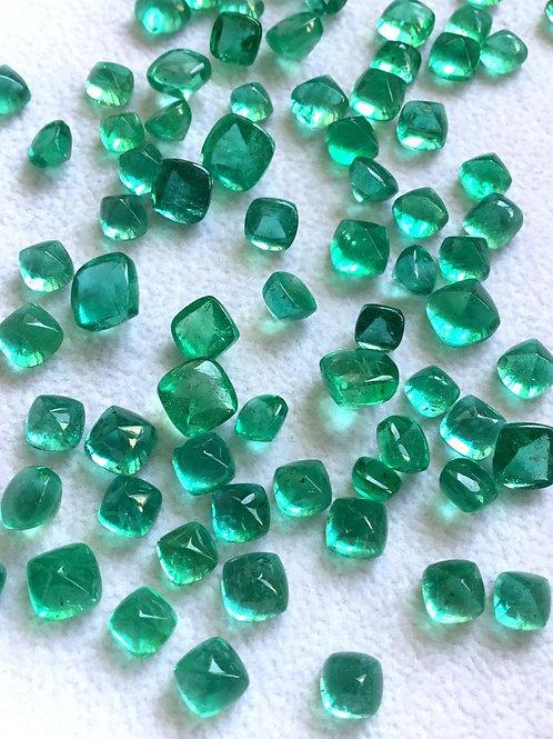 Emerald Sugarloaf Emerald Jewelry Zambian Emerald Pair Natural Emerald Gemstone