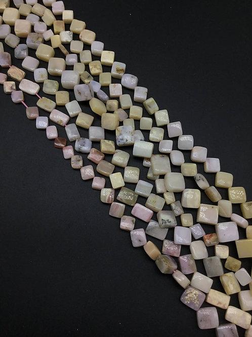 Pink Opal Fancy Shape Natural Gemstone Necklace 16'' Opal Necklace Shape