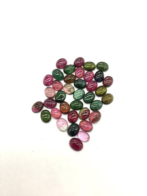 Multi Tourmaline Plain Oval AAA + Top quality 5 Pieces Natural Gemstone 10.85 Ct