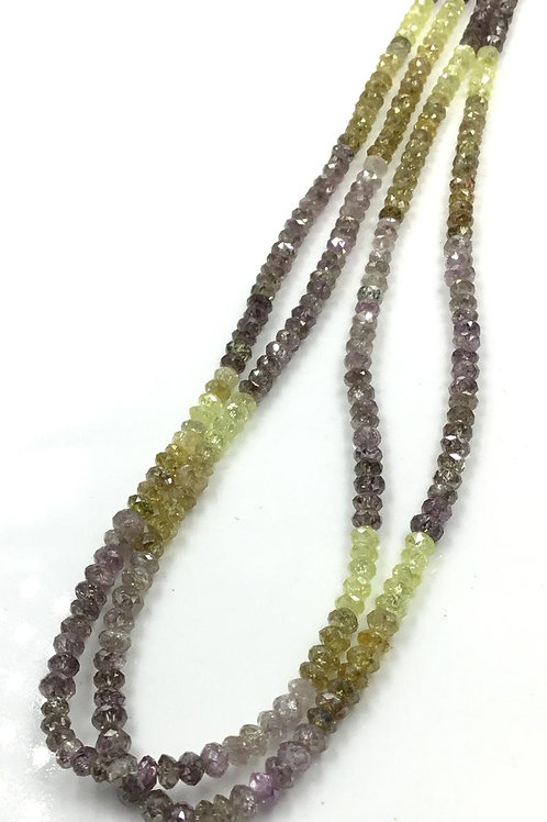 Multi Fancy Diamond Beads 16 Inches 3 To 4 mm Approx Top Color Beads 1 Strand