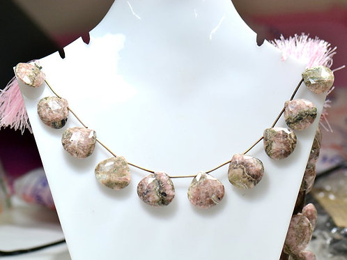 Rhodonite  - 8'' Africa Faceted Drops 1 Strand Gemstone Jewelry Beads
