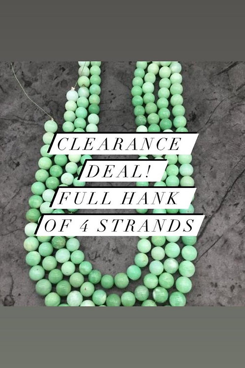 Closeout Sale price Chrysoprase Plain Balls Beads 4 strands full hank wholesale
