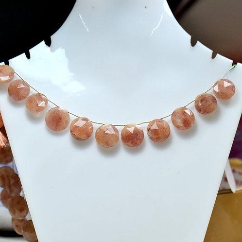 Rhodochrosite - 8'' Africa Faceted Round 1 Strand Necklace Gemstone