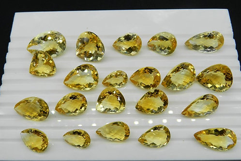 Citrine Faceted Pear Shape 100 % Natural Gemstone 80 Ct (10 Pieces 1 Quantity