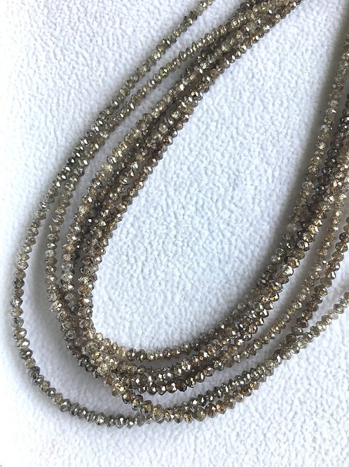 Brown Diamond Beads 16 Inches 2 To 3 mm Approx Top Color Beads 1 Strand