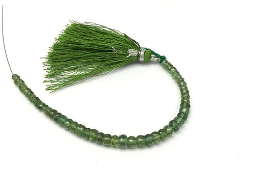 Tourmaline Faceted Beads 5'' Natural Gemstone necklace Tourmaline Green Beads