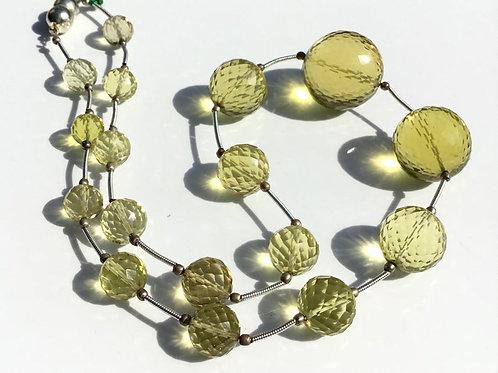 Lemon Quartz Faceted Balls Natural Gemstone