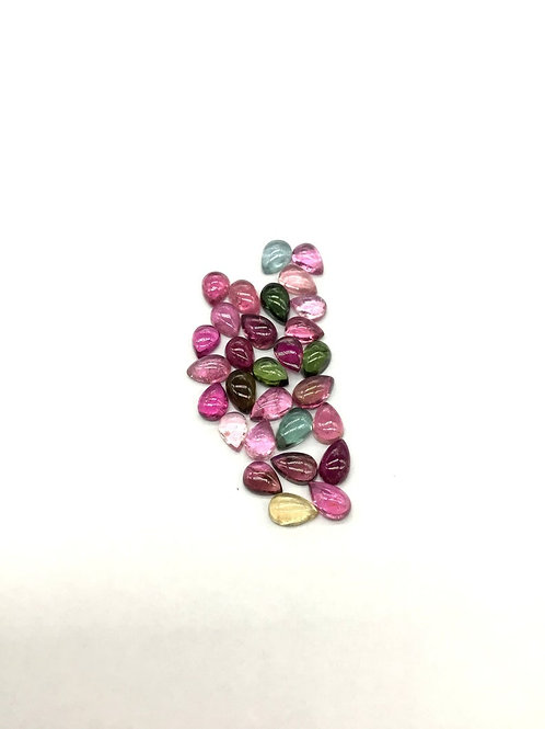 Multi Tourmaline Pear / Almond Shape AAA + Quality 10.30 Ct Jewellery making Set