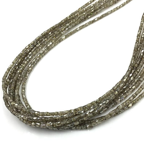 Light Brown Pipe Diamond Beads 16 Inches 1x1.5 To 2.5x3 mm Approx Top Color Bead