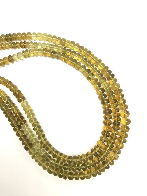 Beer Quartz 16 '' Shaded Smooth Beads Natural Gemstone 1 Strand Necklace