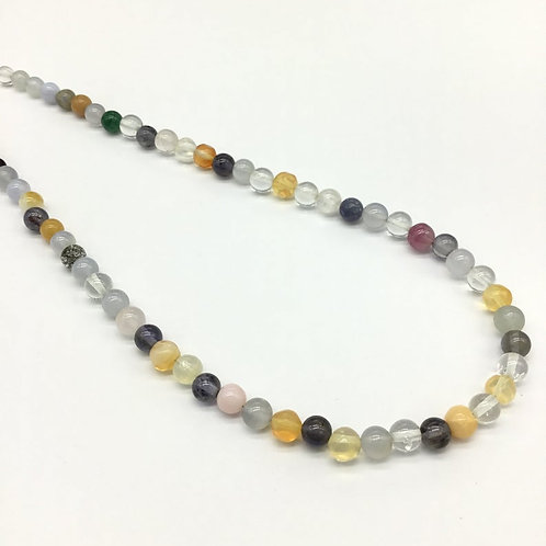 Mixed Gems 16 '' Smooth Balls 97.50 Ct Gemstone Necklace 4 To 6 MM