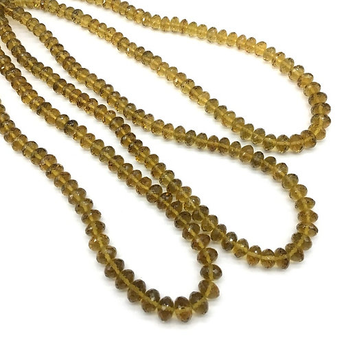 Beer Quartz 16 '' Faceted beads Natural Gemstone handmade 185 Ct 7 to 9 MM Beads