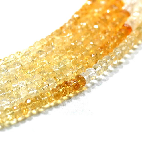 Citrine - 16'' Shaded Brazil Faceted Beads 1 Strand Gemstone  Jewelry Beads