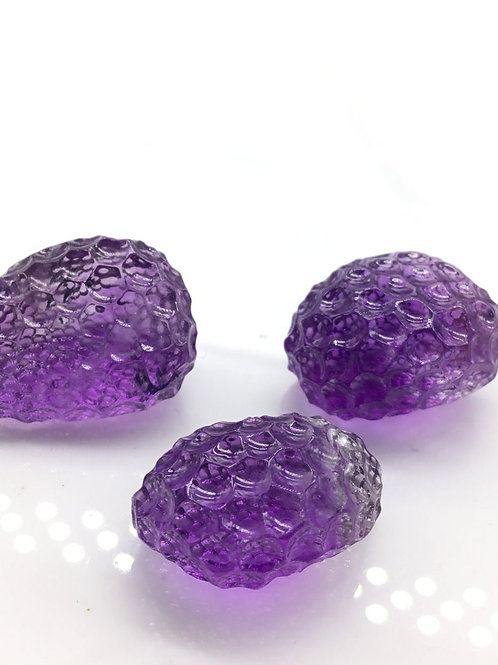Amethyst gems Carved Tumble natural Gemstone For Jewelry Making beading Tumble