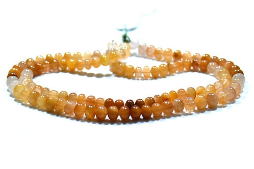 Rutile - 16'' African Smooth Beads Gemstone 1 Strand Jewelry Beads Natural