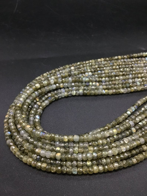 Labradorite Faceted Beads Natural Gemstone Necklace 1 Strand Faceted Beads