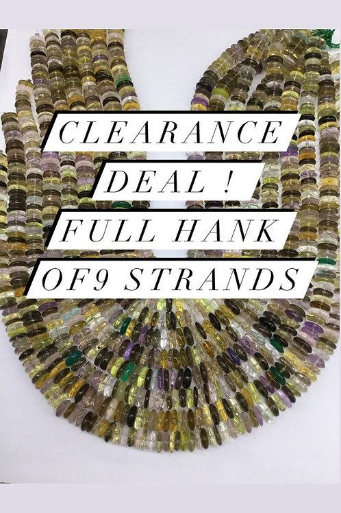 Closeout Sale price Semi multi Faceted 9 Beadsstrands full hank wholesale