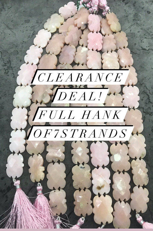 Closeout Sale Pink Opal Fancy strands full hank wholesale closeout deal