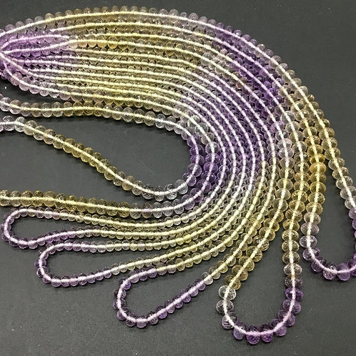 Ametrine Faceted Beads extra fine faceting 16inch 100 % Natural Gemstone