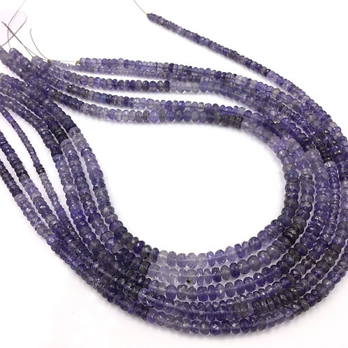 Iolite Faceted Beads 1 Strand Natural Gemstone