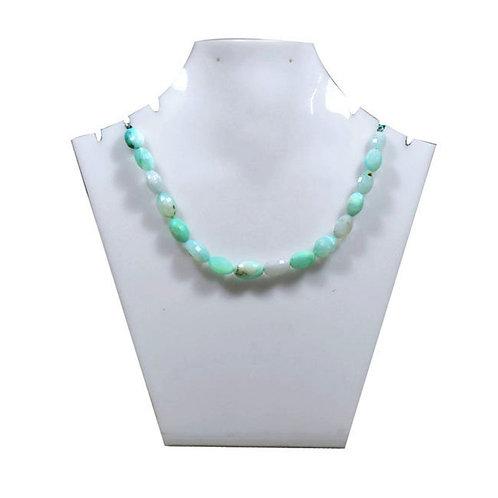 peru 8 '' Blue Opal Peru - Faceted Gemstone 1 Strand Jewelry Beads Handmade