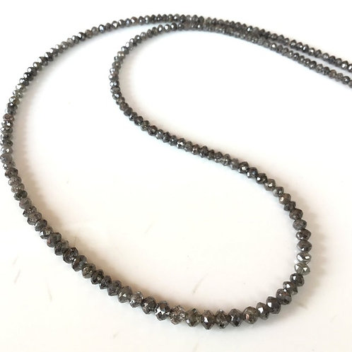 Fancy Grey Diamond Faceted Beads Natural Gemstone