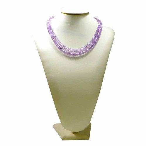 Pink Amethyst Beads Quality !! - 16'' Brazil Beads 1 Strand Gemstone