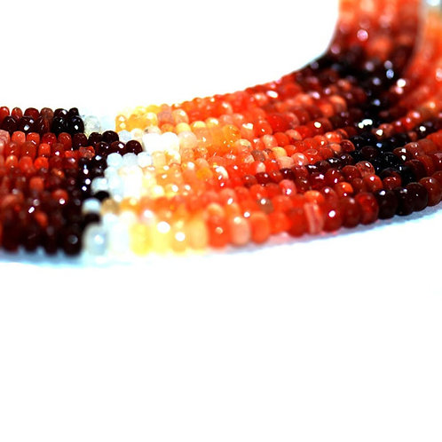 "Mexican Fire Opal - 18""Mexico Faceted Beads Gemstone 1 Strand Necklace"