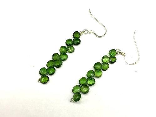 Tourmaline Earrings Heart Green Tourmaline Earring Set Top Color Natural Gemston