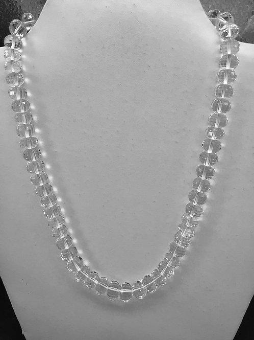 Natural Crystal 16 '' Quartz Checker Cutting Top Quality Gemstone Necklace
