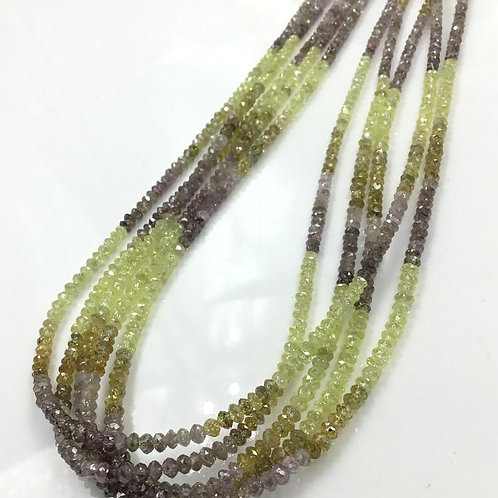 Multi Fancy Diamond Beads 16 Inches 1.5 To 3 mm Approx Top Color Beads 1 Strand